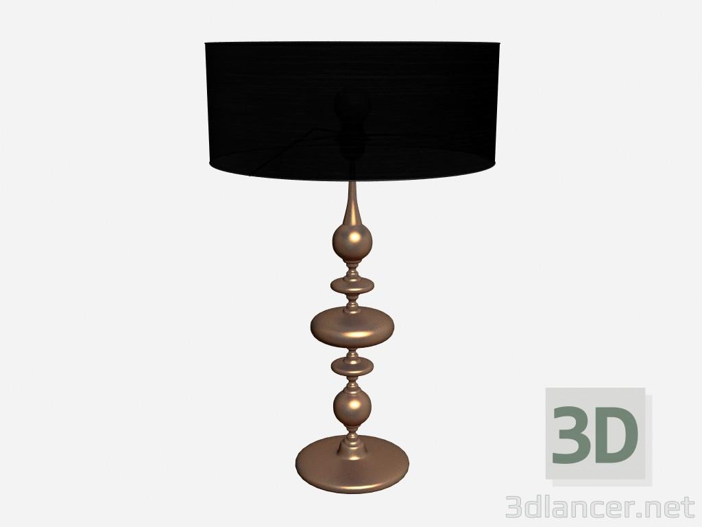 3d model Table lamp Ceramic lamp in copper leaf - preview