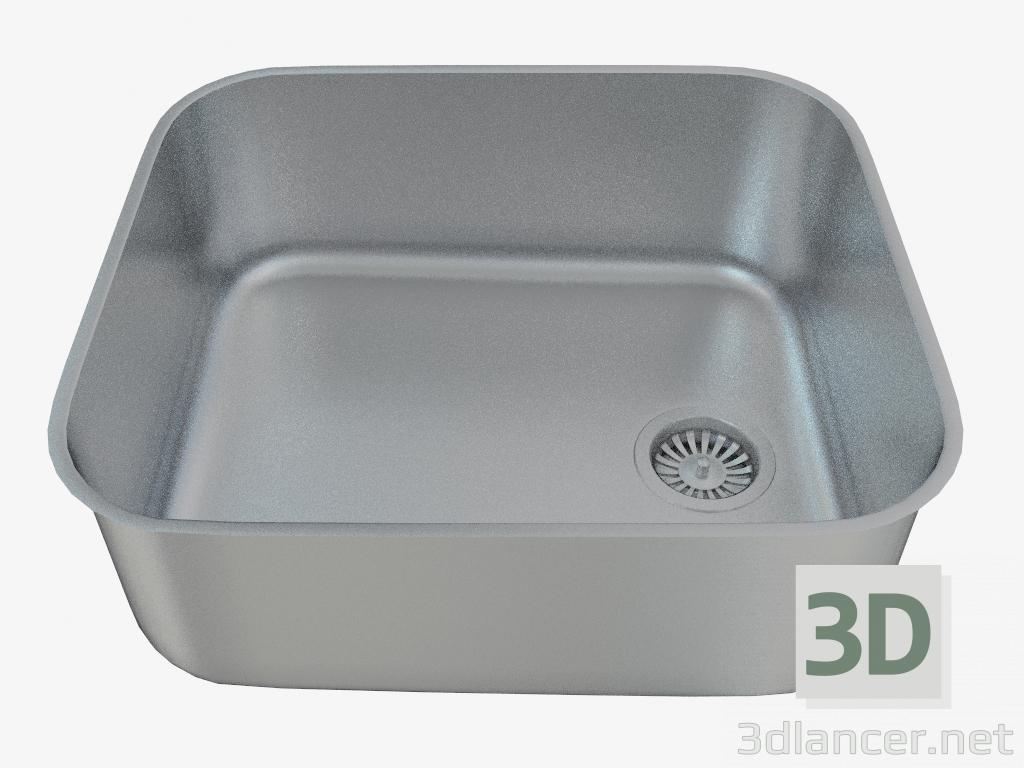 3d model Steel kitchen sink Arabeska (ZAA-010C 95934) manufacturer ...