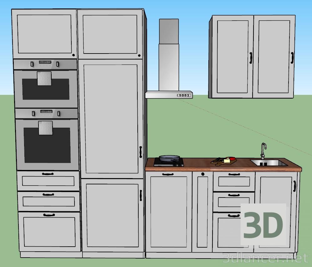 3d model Ikea Kitchen - preview