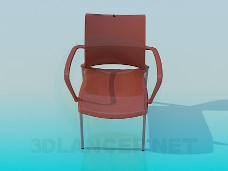 3d модель Стілець з гладкою поверхнею – превью