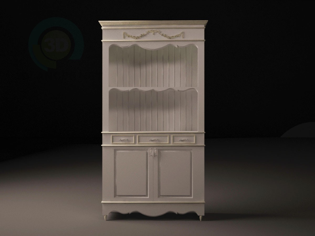 3d model Provence style buffet - preview
