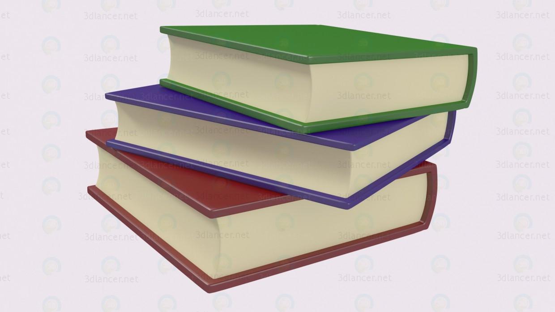 3d Стопка книг модель купити - зображення
