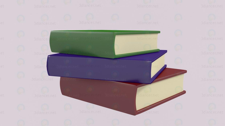Стопка книг 3d модель купить - рендер