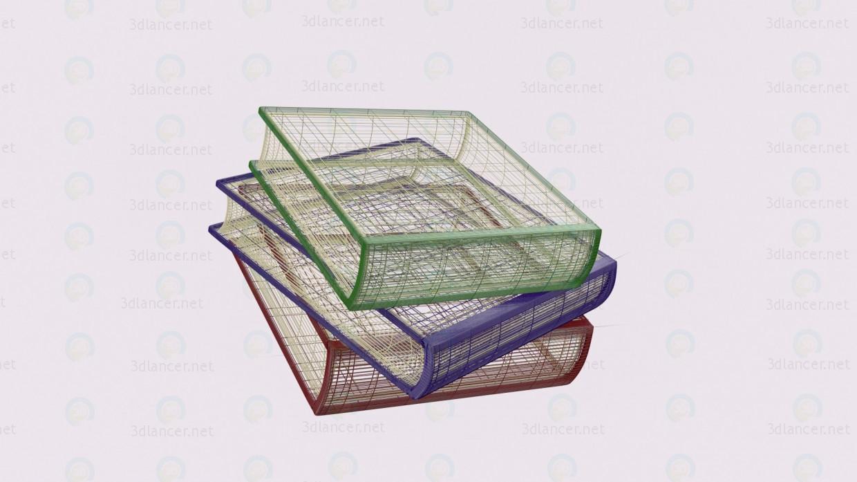 Pila de libros 3D modelo Compro - render