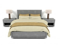 Bed La Salle Metal - Wrapped Collection RH