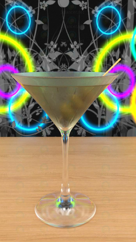 3d modeling Martini Glass model free download