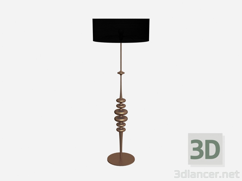 3d model Floor lamp Ceramic lamp in copper leaf - preview