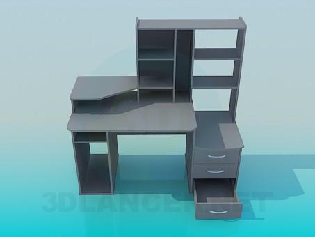 3d модель Стол компьютерный – превью