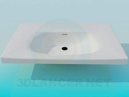 3d model Sink with a wide brim - preview