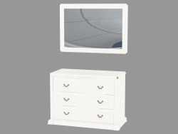 Dresser with three drawers and a mirror