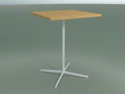 Tavolo quadrato 5570 (H 105.5 - 80x80 cm, Rovere naturale, V12)