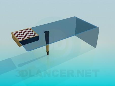 3d модель Журнальный столик с встроенной шахматной доской – превью