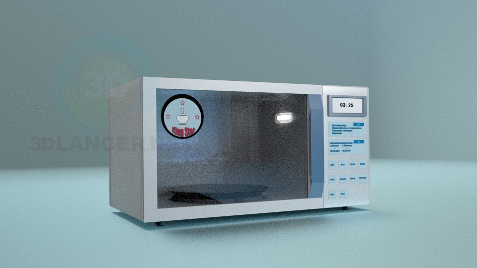 3d model Microwave Oven - preview