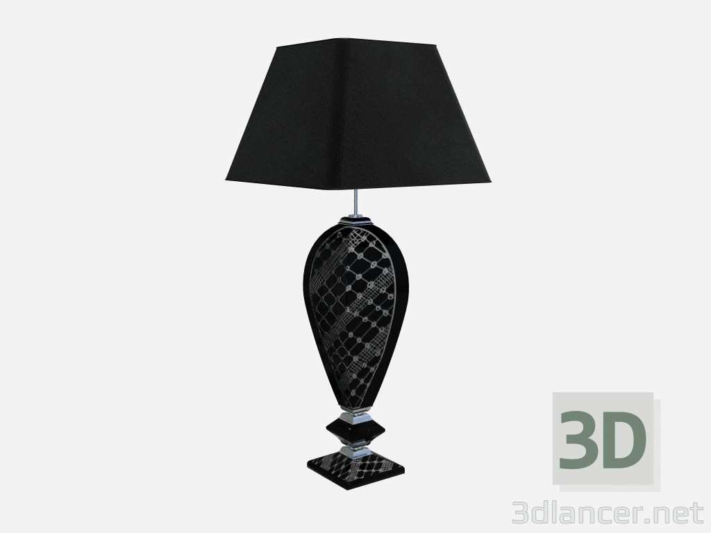 3d model Table lamp in a dark performance Black ceramic - preview