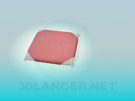 modelo 3D Almohada para taburete - escuchar