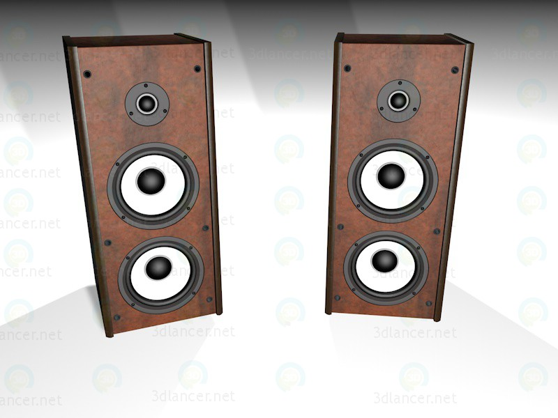 modelo 3D Sistema de sonido - escuchar
