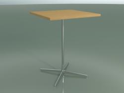 Стол квадратный 5570 (H 105,5 - 80x80 cm, Natural oak, LU1)