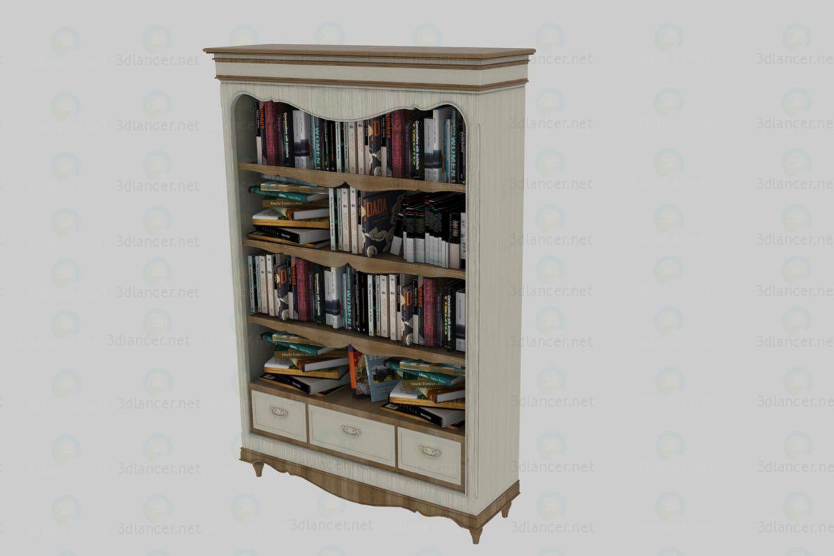 3d модель шкаф книжный – превью