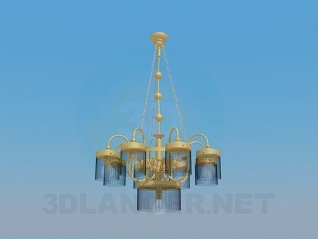 3d model A large chandelier - preview