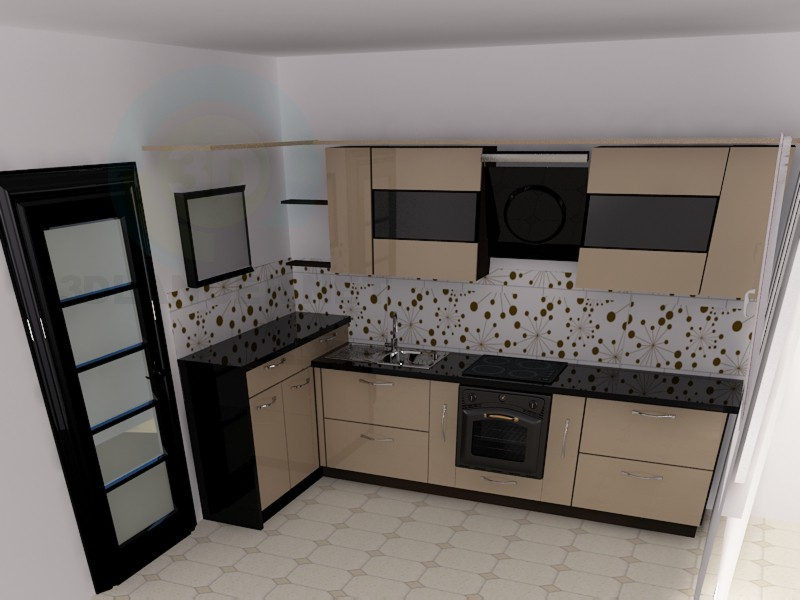 3d modeling Big-eyed kitchen) model free download