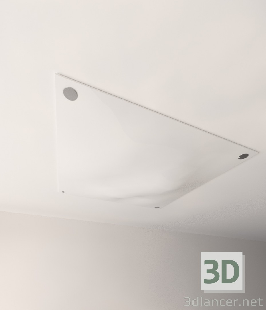 3d model Ceiling lamp with the effect of crumpled fabric - preview