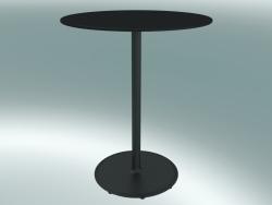 Tavolo BON (9380-01 (⌀ 60cm), H 74cm, HPL nero, ghisa nero)