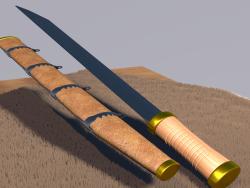 Couteau Scramasax