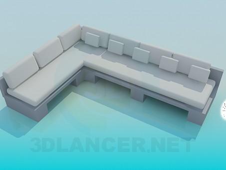 3d моделирование Большой угловой диван модель скачать бесплатно