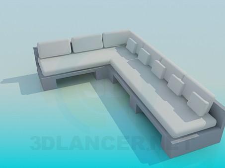 3d model Large corner sofa - preview