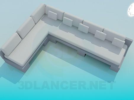 modelo 3D Sofá de esquina grande - escuchar