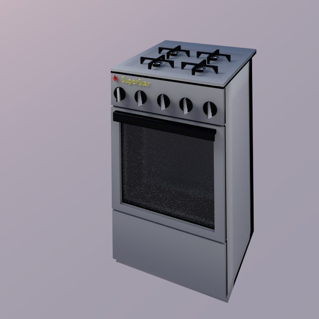 3d modeling Oven model free download