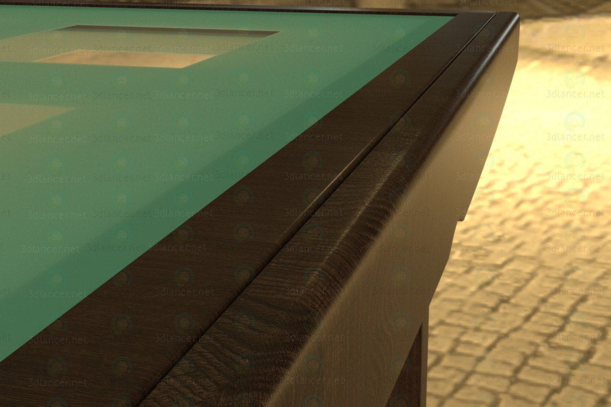 3d model Murano dining table - preview