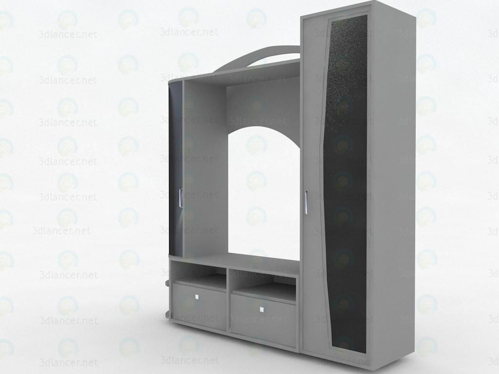 modelo 3D Pared para sala - escuchar