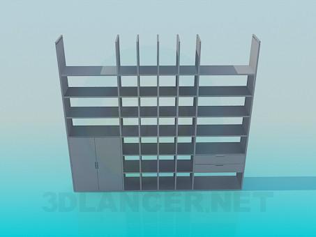 descarga gratuita de 3D modelado modelo Gabinete con estantes