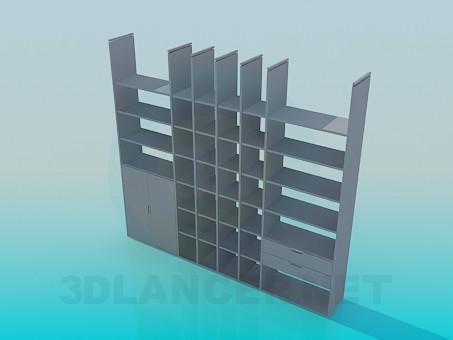 3d модель Шкафчик-этажерка – превью