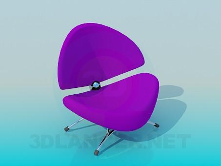 3d модель Низкий удобный стульчик – превью