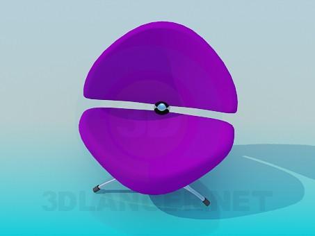 3d модель Низький зручний стільчик – превью