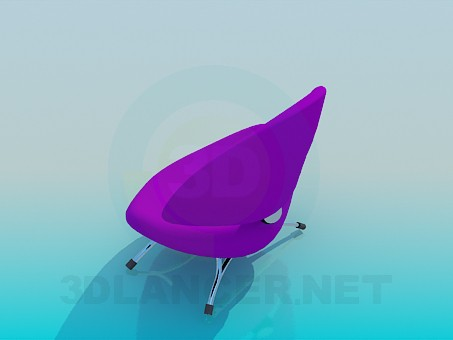 3d model Low cosy chair - preview