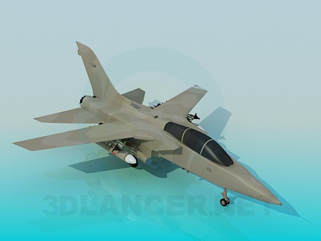 3d model Military aircraft - preview