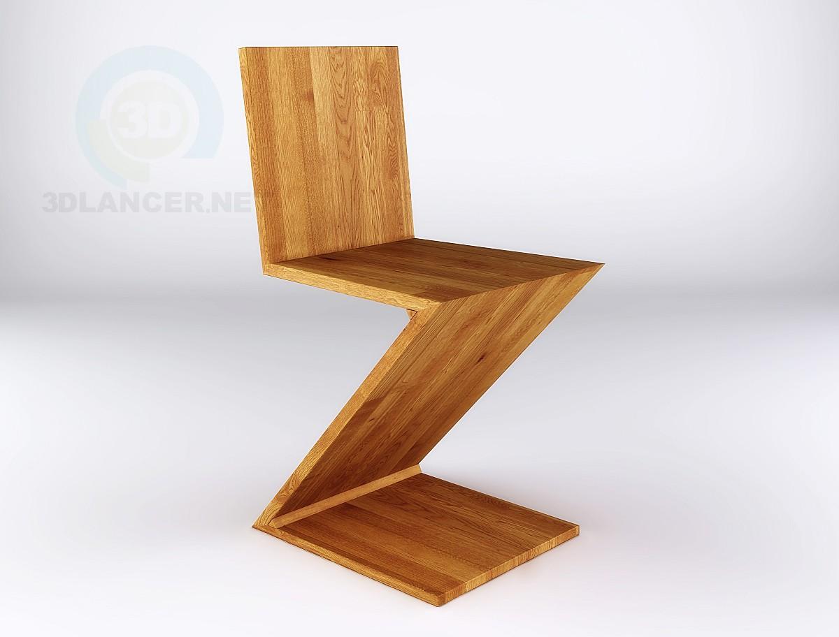 3d model Zig Zag silla - vista previa