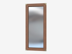 Mirror vertical in wooden frame
