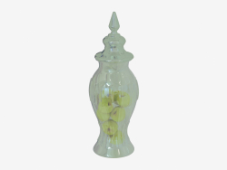 Vase pommes Haubert Ld 19,5 h 56cm
