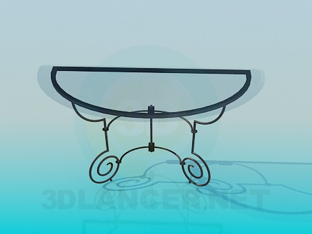 3d model Side glass table - preview