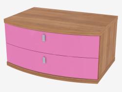Table de nuit avec deux tiroirs