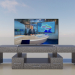 3d TV stand (console) model buy - render