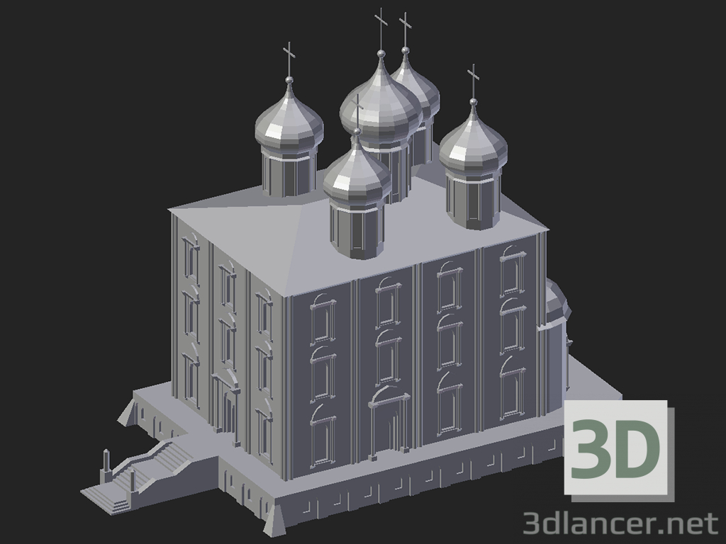 3d model Ryazan. Assumption Cathedral - preview