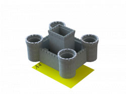 Flower pot 5 in 1, stylized as a castle
