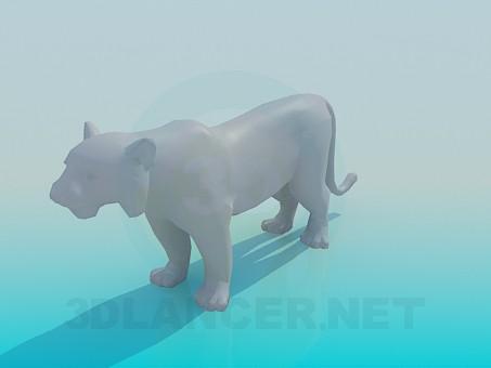 3d модель Тигр – превью
