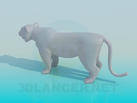3d model Tiger - preview