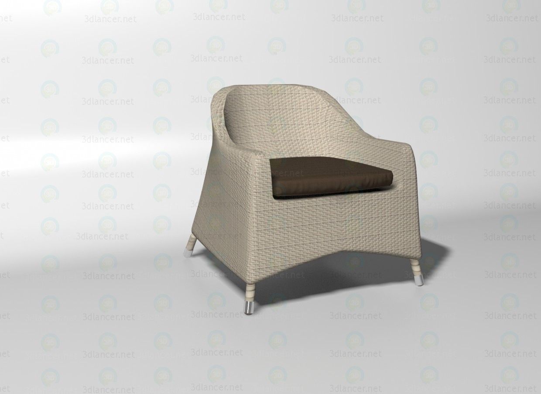 descarga gratuita de 3D modelado modelo Silla Cancun